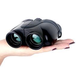 Compact Pocket Outdoor Binoculars, 10x25 Large Eyepiece, Nig