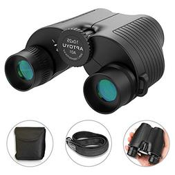 10x25 Compact Binoculars, Large Eyepiece High Power Folding