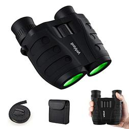 12x25 Compact Pocket Folding Binoculars for Adults Kids, Low