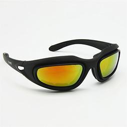 Daisy C5 Motorcycle Goggles Polarized 4 Lens Kit, Outdoor Sp