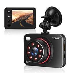 "TryAce Dash Cam B5N 2.7"" FHD 1080P Super Night Vision Vehicl"