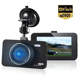 """Dashcam 3"""" LCD FHD 1080P 170 Degree Wide Angle Dashboard Cam"""