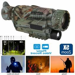 Digital 5x40 IR Night Vision Monocular 200m Zoom Hunting Cam