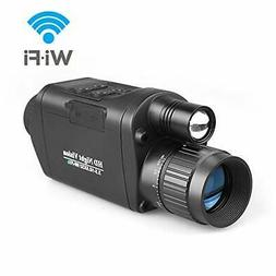 Bestguarder Digital Night Vision Monocular with WiFi, HD Inf