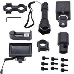 DIY Night Vision Rifle Scope&IR Torch Set Monitor IR Laser T