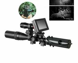 DIY Night Vision Scope Digital Camera For Rifle Scope  IR To