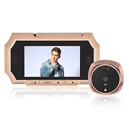 Door Viewer, 4.3 Inch HD Visual Digital Doorbell Peephole wi