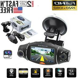 Dual Lens GPS Car DVR Camera HD Dash Cam Video Recorder G-se