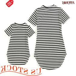 Family Matching Outfits Mother and Daughter Clothes dress Ba