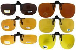 Flip Up Yellow Night Vision Amber Driving Lens HD Blue Block