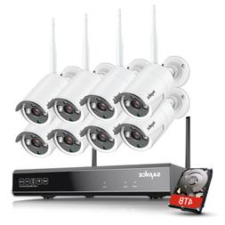 SANNCE Full 1080P 8CH NVR Wireless 2MP Security IP Camera Sy
