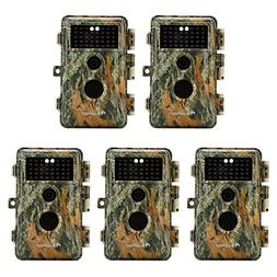 5-Pack Game & Trail Cameras 16MP 1080P Video Night Vision Ti