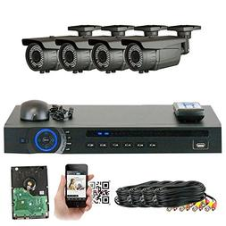 GW Security 1080P HD-CVI 4 Channel Video Security Camera Sys