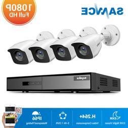 SANNCE H.264+ 5in1 8CH DVR Outdoor 1080P 2MP Video CCTV Secu