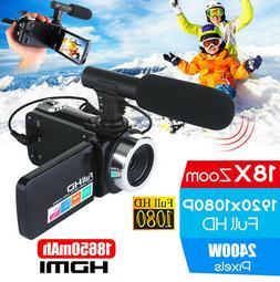 HD 1080P Digital Video Camera Recorder 18X Zoom Camcorder DV