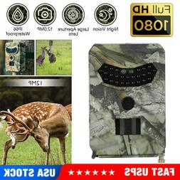 HD 1080P Hunting Trail Camera Outdoor Wildlife 12MP Scouting