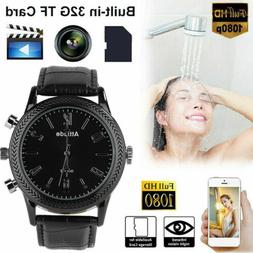 HD 1080P Infrared Night Vision Hidden Camera Watch Video Rec