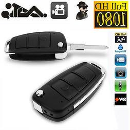 HD 1080P Spy Camera Car Key Chain Hidden DVR Audio Recording