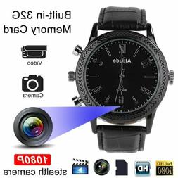HD 1080P Watch Camera Infrared Night Vision Hidden Video Rec