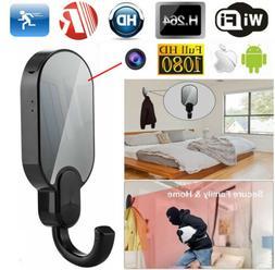 HD 1080P WIFI IP Mini Spy Night Vision Clothes Hook Hidden C