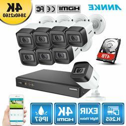 ANNKE HD 4K Security Camera System H.265+ 8MP 8CH DVR Video