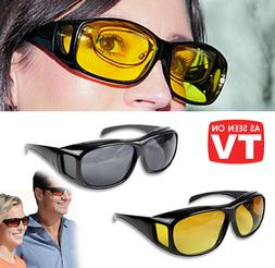 HD Day Night Vision glasses for Driving Wraparound Sunglasse