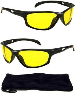 HD High Definition AVIATOR Night Vision Glasses DRIVING SUNG