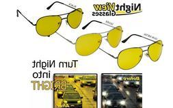 HD Night Vision Glasses Driving Aviator Sunglasses MEN Yello