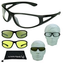 HD NIGHT VISION Glasses YELLOW CLEAR Lens Driving Motorcycle