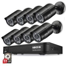 ZOSI HDMI 8CH 720P CCTV Security Outdoor Camera DVR Night Vi
