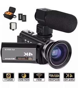 ACTITOP HDV-UHD-02 Video Camcorder, Video Camera 48MP UHD Wi
