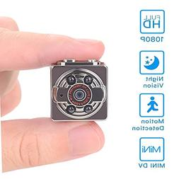 Hidden Mini Camera,1080P/720P Pocket Security Spy Camera Nig