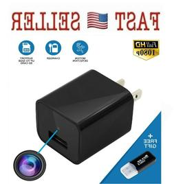Hidden Spy Camera Wall Charger Night Vision USB Spy HD Motio