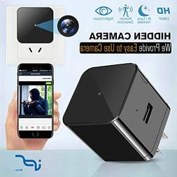 Hidden Camera WiFi Adapter 1080P Spy Camera Wall Charger wit
