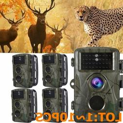 Infrared Night Vision HD 1080P IR 12MP 120°Trail Security C