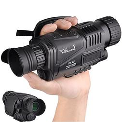 Landove 5x40mm Infrared HD Digital Night Vision Monocular wi