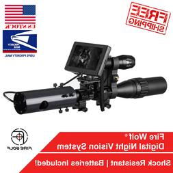 Infrared Night Vision System Rifle Scope Hunting Sight 850nm