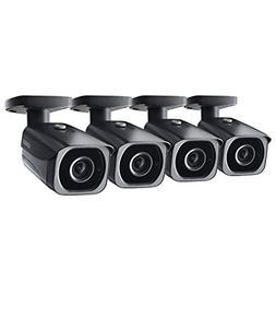 4-Pack of Lorex 8MP 4K IP Bullet Security Camera LNB8921BW,
