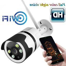IP WIFI Camera 1080P  Two Way Audio Color Night Vision Outdo