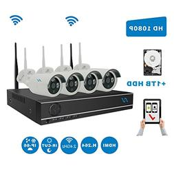 Full HD 1080P Kit Northshire 4CH 1080P Wireless CCTV Video S
