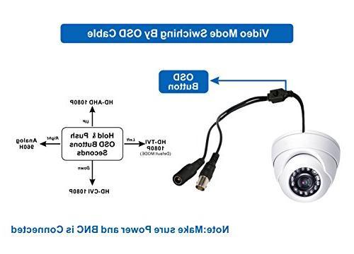 HDView CCTV Cameras 2.4MP 4-in-1 1080P Outdoor/Indoor Camera Fixed 24 Waterproof for Security