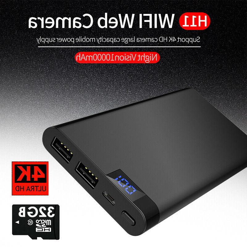 10000mAh Power WIFI Hidden Camera DVR Recorder