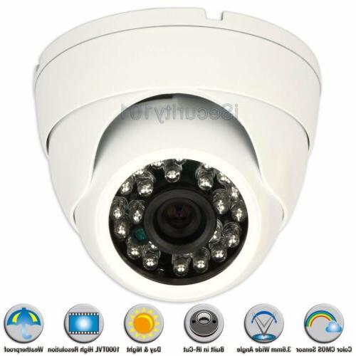 1000TVL 3.6mm Night Vision Metal IR Outdoor Indoor CCTV Secu