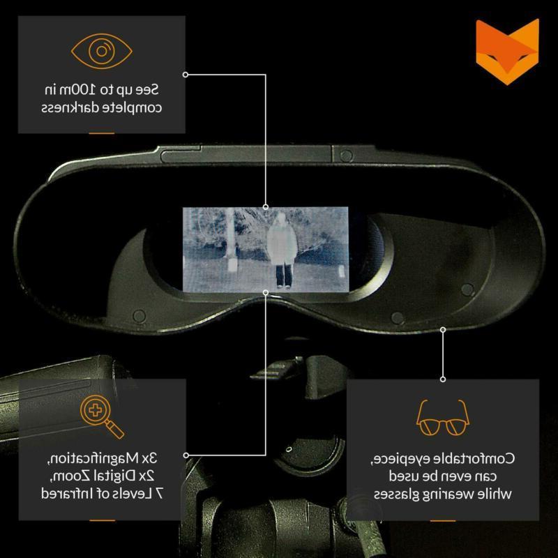 Nightfox 100V Night Vision Infrared Binocular with