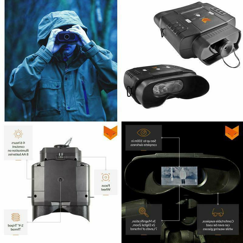 100v widescreen digital night vision infrared binocular