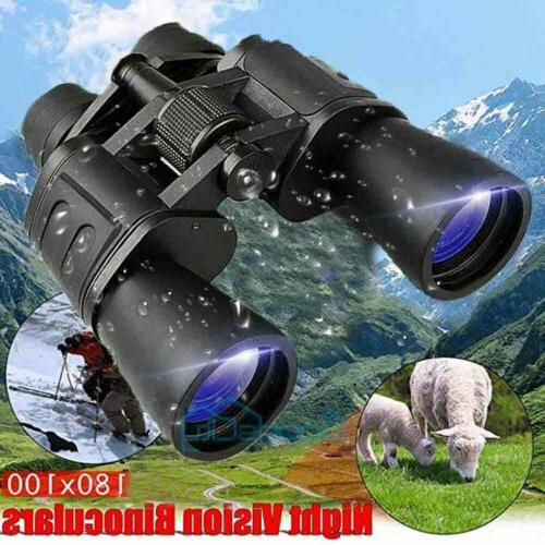100X180 Binoculars Night Vision BAK4 High Power Waterproof Case