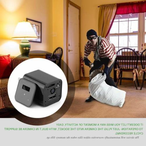 1080P Spy Camera USB Charger Security Recorder