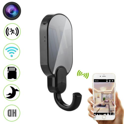 1080P WiFi Night Vision Clothes Hook Security Hidden Spy Cam