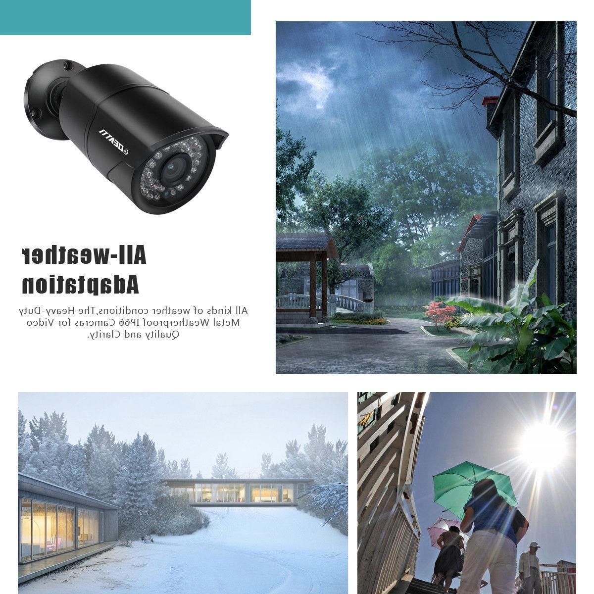 1080P 3000TVL CCTV 4in1 Bullet 2MP Camera Outdoor Night Vision