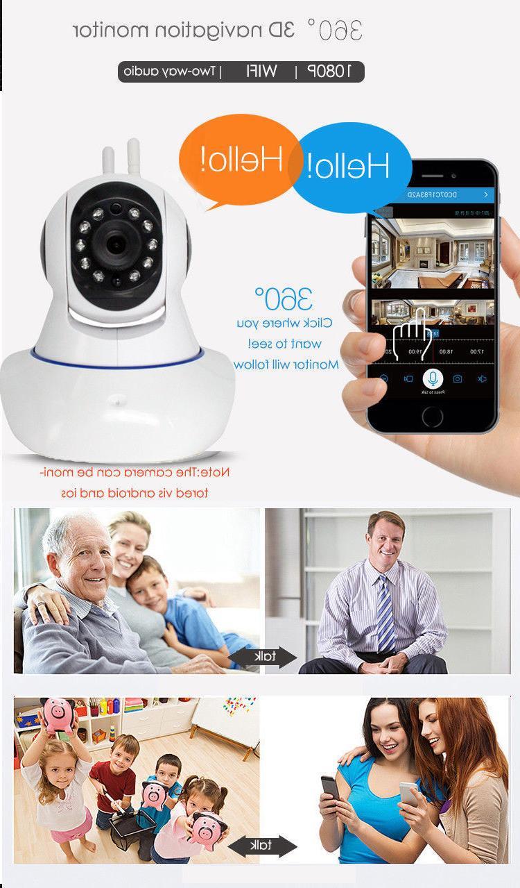 1080P Wireless Monitor Night Alarm IP Camera